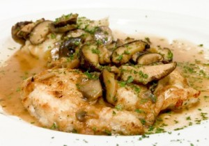 chicken with mushroom basil cream sauce